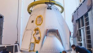 SpaceX's Crew Dragon capsule arrives in Florida to get set for uncrewed test flight