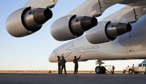 Paul Allen's Stratolaunch Systems puts its brand on the world's biggest airplane
