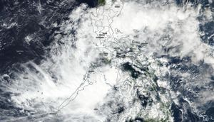 NASA sees tropical depression 33W enter the Sulu Sea