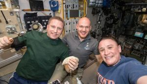 This year, there'll be empty spaces at the table for Thanksgiving on space station